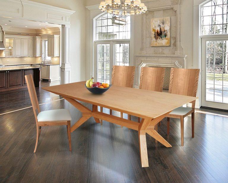 "75021 Sharp | שולחן פינת אוכל מעץ אלון | מידות: 210*110+ הגדלה של 100 ס""מ (2X50)"