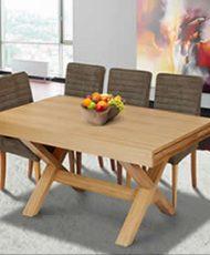 שולחן אוכל גלאנס + 4 כסאות
